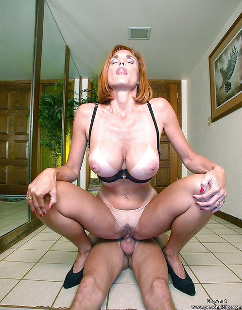 Riding her boytoy in the hall