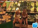 Naughty In Public 3: 3 girls went to the super mar…